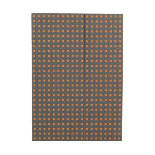Paper-Oh Quadro Grey on Orange B5 üres