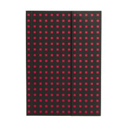 Paper-Oh Quadro Black on Red B6 üres