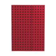 Paper-Oh Quadro Red on Black B6 üres