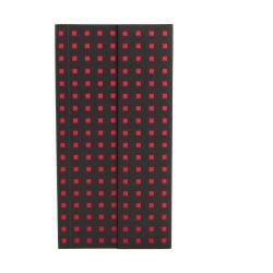 Paper-Oh Quadro Black on Red B6.5 üres