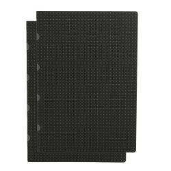 Paper-Oh Cahier Circulo Black on Grey / Black on Grey A4 vonalas