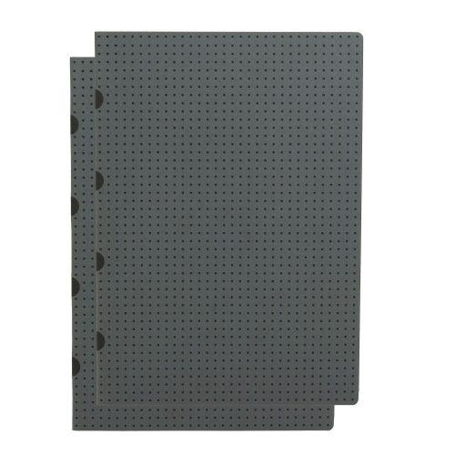 Paper-Oh Cahier Circulo Grey on Black / Grey on Black A4 üres