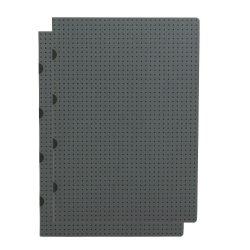 Paper-Oh Cahier Circulo Grey on Black / Grey on Black A4 kockás
