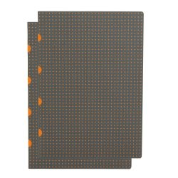 Paper-Oh Cahier Circulo Grey on Orange / Grey on Orange A4 vonalas