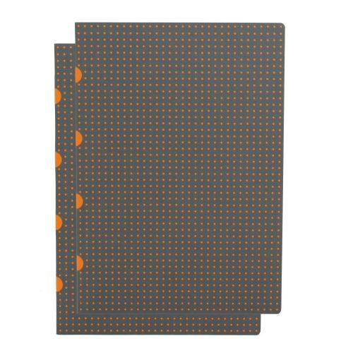 Paper-Oh Cahier Circulo Grey on Orange / Grey on Orange A4 üres