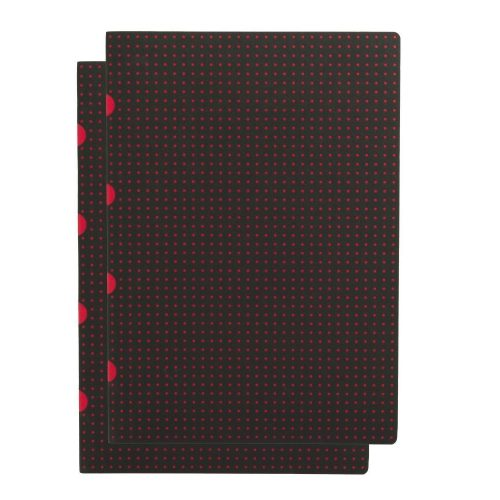 Paper-Oh Cahier Circulo Black on Red / Black on Red A4 kockás