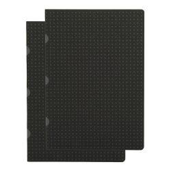 Paper-Oh Cahier Circulo Black on Grey / Black on Grey A5 vonalas