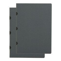 Paper-Oh Cahier Circulo Grey on Black / Grey on Black A5 vonalas