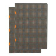 Paper-Oh Cahier Circulo Grey on Orange / Grey on Orange A5 vonalas