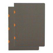 Paper-Oh Cahier Circulo Grey on Orange / Grey on Orange A5 üres