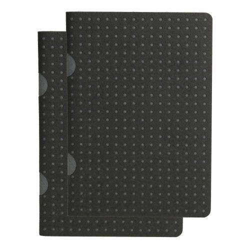 Paper-Oh Cahier Circulo Black on Grey / Black on Grey B7 vonalas