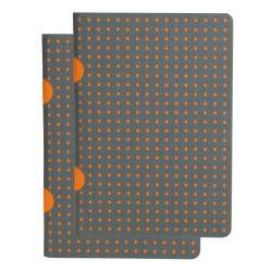 Paper-Oh Cahier Circulo Grey on Orange / Grey on Orange B7 vonalas
