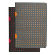 Paper-Oh Cahier Circulo Black on Red / Black on Red B7 vonalas
