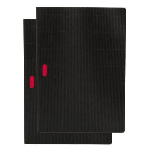 Paper-Oh Cahier Ondulo Black / Black A4 vonalas