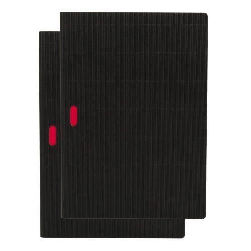 Paper-Oh Cahier Ondulo Black / Black A4 üres