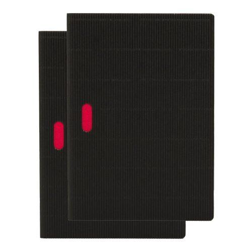 Paper-Oh Cahier Ondulo Black / Black A5 üres