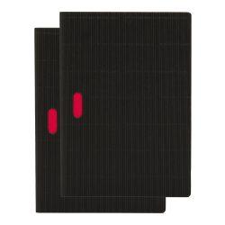 Paper-Oh Cahier Ondulo Black / Black A5 kockás