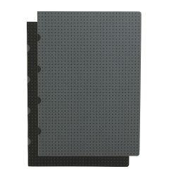 Paper-Oh Cahier Circulo Black on Grey / Grey on Black A4 vonalas