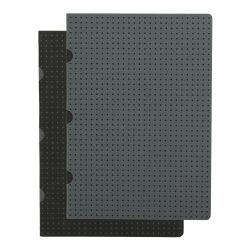 Paper-Oh Cahier Circulo Black on Grey / Grey on Black A5 vonalas
