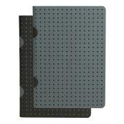 Paper-Oh Cahier Circulo Black on Grey / Grey on Black B7 vonalas