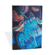 Paperblanks butikkönyv Blue Cats & Butterflies midi vonalas