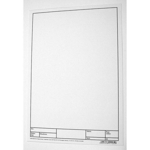 A4-es műszaki rajzlap