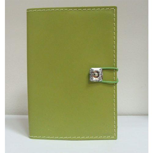 Swarovski kristályos bőr notesz, zöld