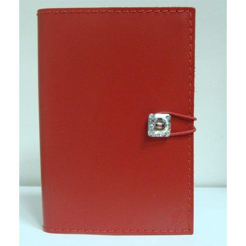 Swarovski kristályos bőr notesz, piros