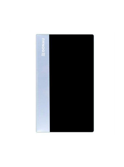 Névjegytartó, 240 db-os, DONAU, fekete (D134240FK)