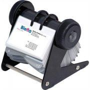Névjegytartó, 400 db-os, forgatható, nyitott, DONAU, fekete (D1394)