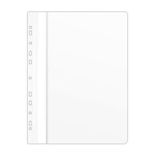 Gyorsfűző, lefűzhető, PVC, A4, DONAU, fehér (D1704F)