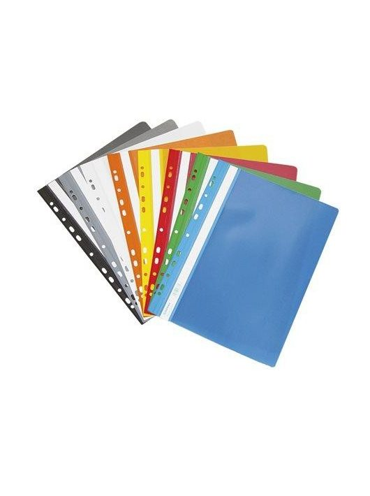 Gyorsfűző, lefűzhető, PVC, A4, DONAU, fekete (D1704FK)