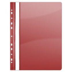 Gyorsfűző, lefűzhető, PVC, A4, DONAU, piros (D1704P)