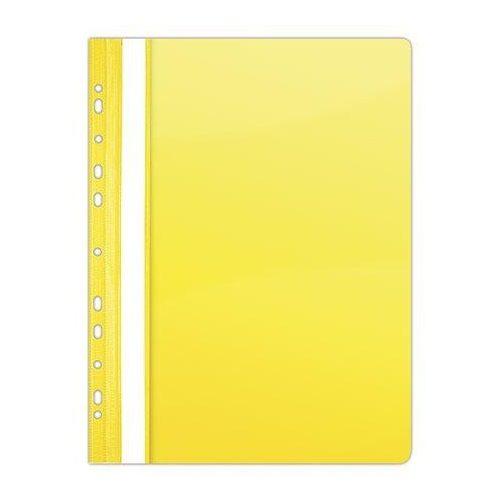 Gyorsfűző, lefűzhető, PVC, A4, DONAU, citromsárga (D1704S)