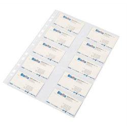 Névjegykártyatartó genotherm, lefűzhető, A4, 40 mikron, víztiszta, DONAU (D1716), 10 DARAB
