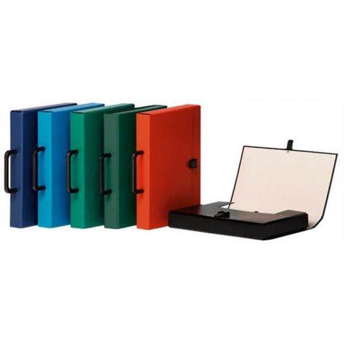 Irattáska, PP/karton, A4, DONAU, kék (D2078K)