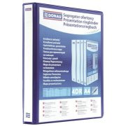 Gyűrűs könyv, panorámás, 4 gyűrű, D alakú, 50 mm, A4, PP, DONAU, kék