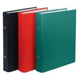Gyűrűskönyv, 2 gyűrű, 30 mm, A5, PP/karton, DONAU, piros (D3718P)