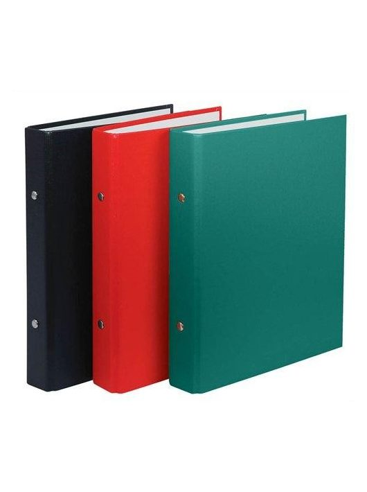 Gyűrűskönyv, 2 gyűrű, 30 mm, A5, PP/karton, DONAU, zöld (D3718Z)