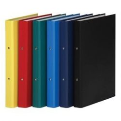 Gyűrűskönyv, 2 gyűrű, 35 mm, A4, PP/karton, DONAU, fekete