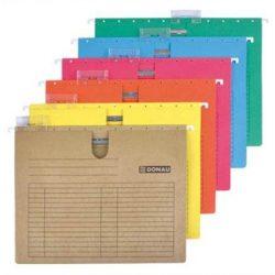 Függőmappa, gyorsfűzős, karton, A4, DONAU, kék (D7430K), 25db