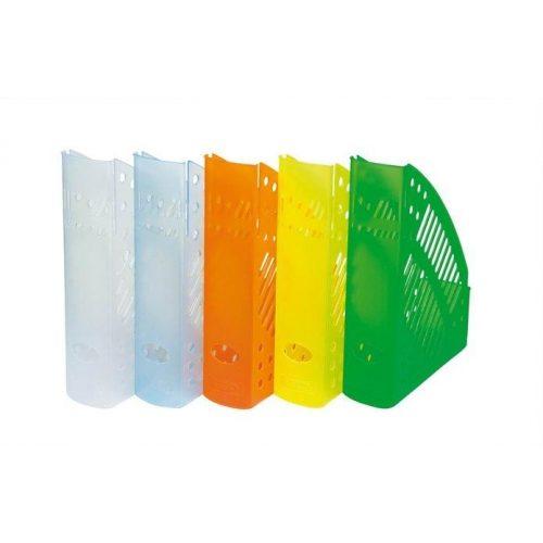 Iratpapucs, műanyag, 70 mm, DONAU, áttetsző fehér (D74621F)