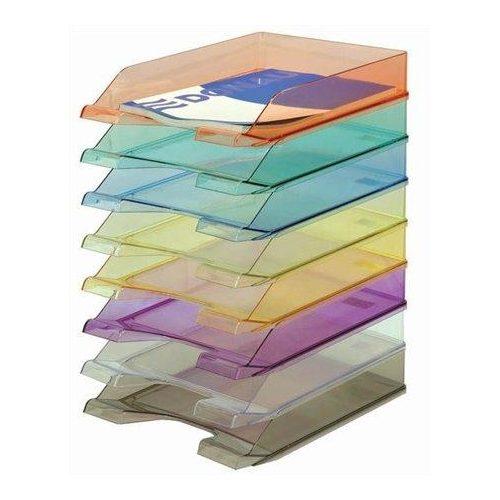 Irattálca, műanyag, DONAU, áttetsző füstszínű (D747F)