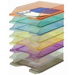 Irattálca, műanyag, DONAU, áttetsző lila (D747L)