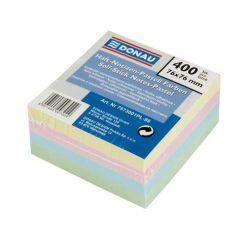 Öntapadó jegyzettömb, 76x76mm, 4x100 lap, DONAU, színes