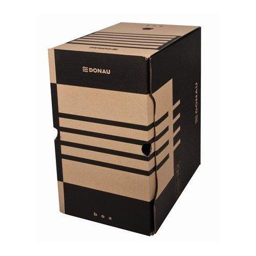 Archiváló doboz, A4, 200 mm, karton, DONAU, natúr (D76634N)