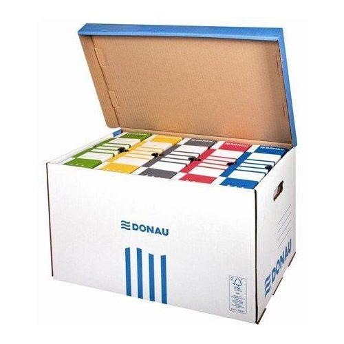 Archiváló konténer, felfelé nyíló, DONAU, kék (D76653K)