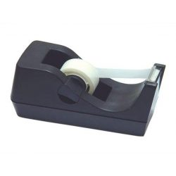 Ragasztószalag-adagoló, asztali, DONAU, fekete (D7886)