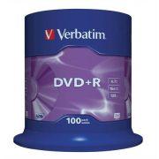 DVD+R lemez, AZO, 4,7GB, 16x, hengeren, VERBATIM (DVDV+16B100)