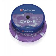 DVD+R lemez, AZO, 4,7GB, 16x, hengeren, VERBATIM (DVDV+16B25)